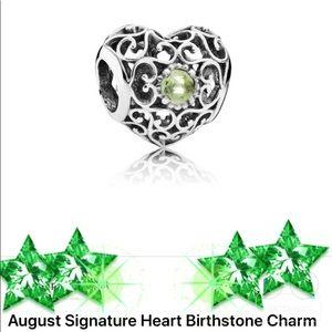 💚Pandora Heart Charm August Peridot S925ALE 💚